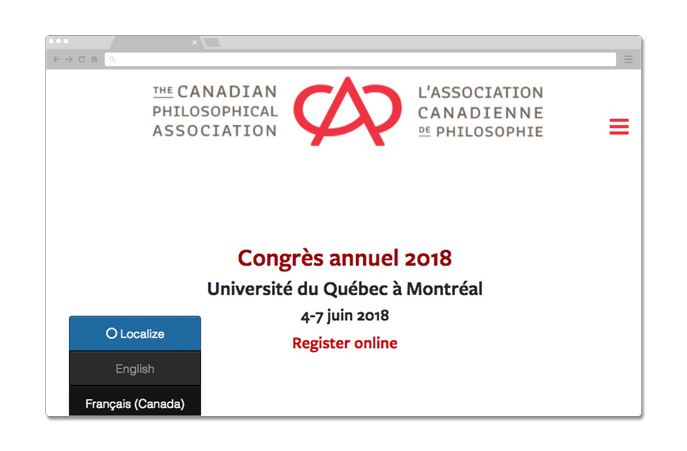 ACPA website using localize for their french translation.