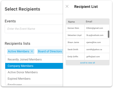 Mailing lists can be filtered based on member criteria
