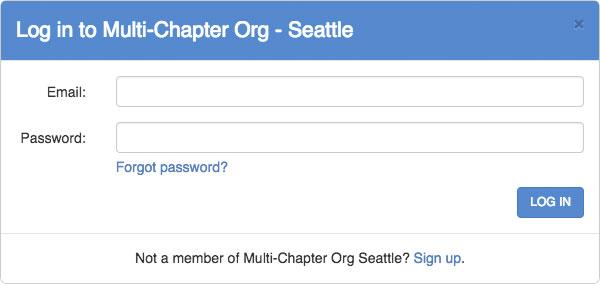 responsive member sign-up websites