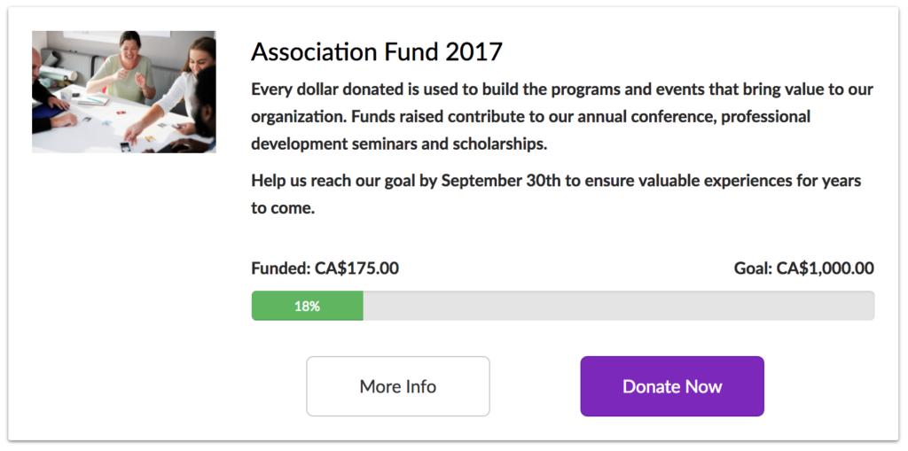 association donation campaign